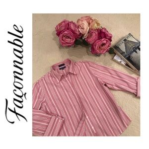 Faconnable Multi Pink Button Down w/ French Cuffs